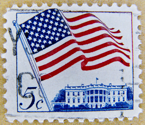 *peace* great stamp USA 5c (The White House, Weißes Haus, Белый дом, Casa Blanca, ホワイトハウス, Maison-Blanche, Casa Branca, 白宮, Beyaz Saray; United States of America US flag stamp USA 5 c cent timbre États-Unis u.s. postage stamp selo Estados Unidos sello USA