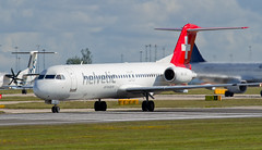 airline, aviation, airliner, airplane, vehicle, fokker 70, jet aircraft,