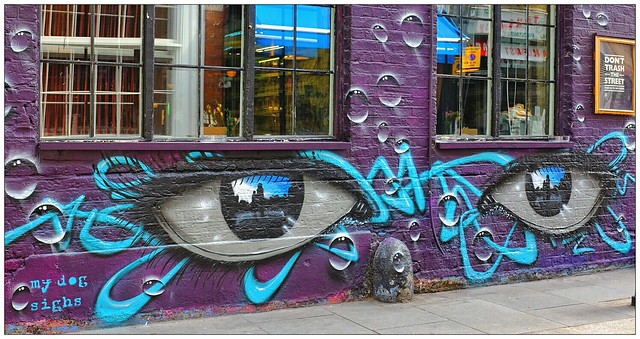 Graffiti (My Dog Sighs), East London, England.