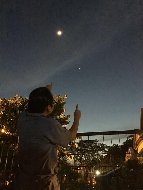 Moon, Venus, Jupiter conjunction 21 June 2015
