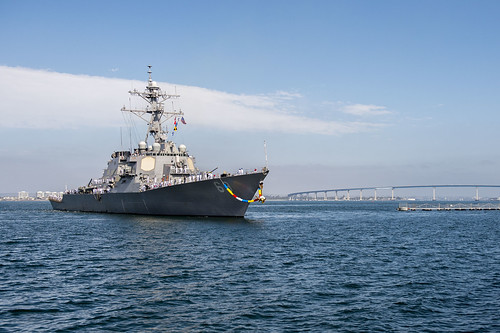 SAN DIEGO - The guided missile destroyer USS Milius (DDG 69) returned from a 250-day independent deployment to the Western Pacific and Indian Oceans.