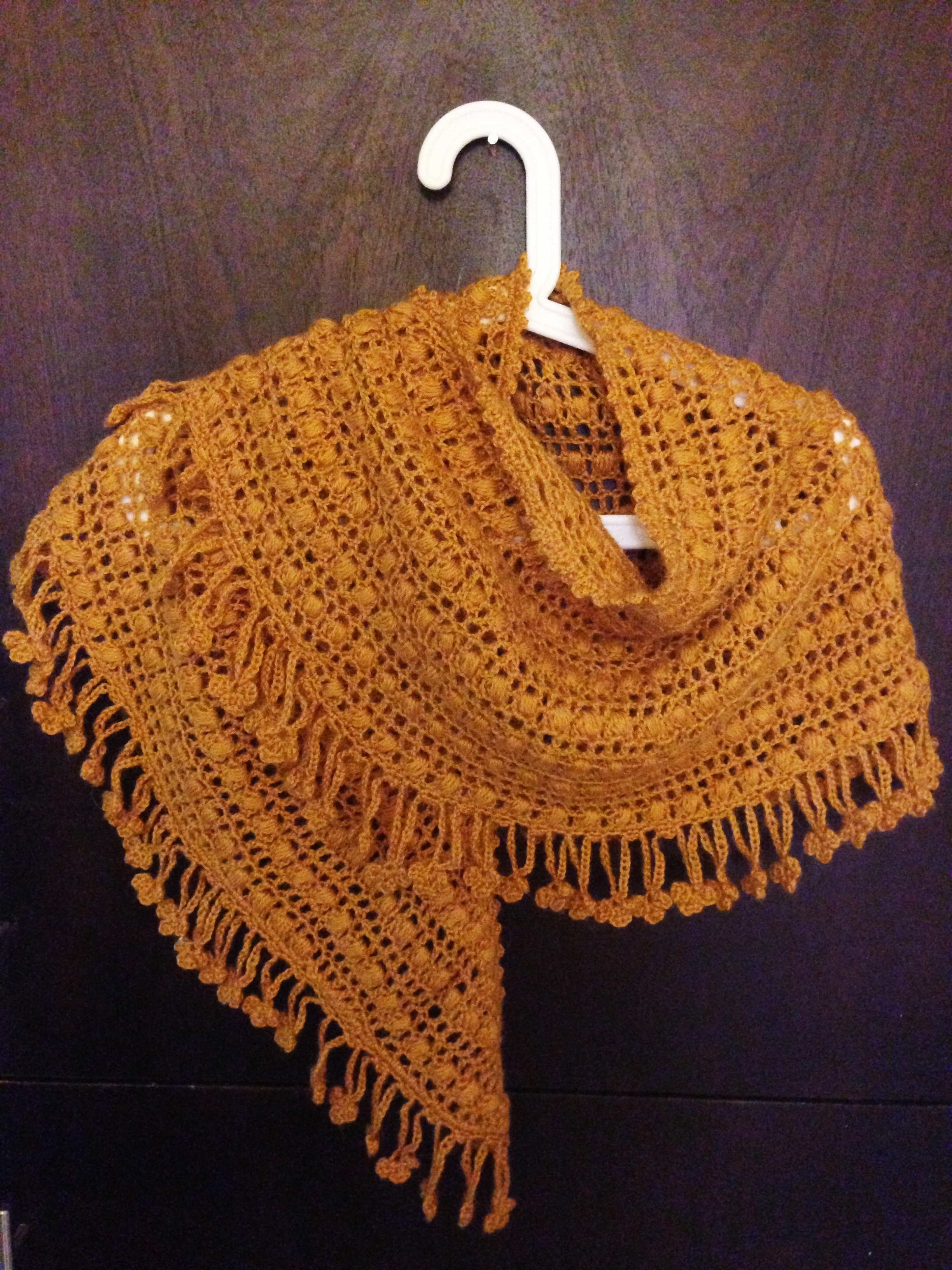 crochet crescent shawl