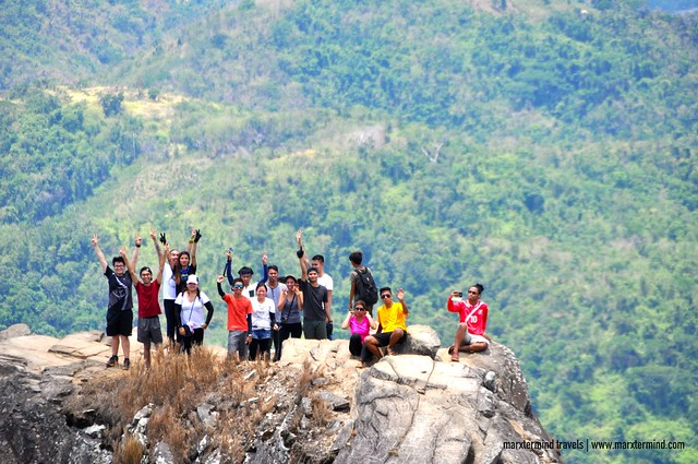 Group of Hikers at Pico de Loro Monolith