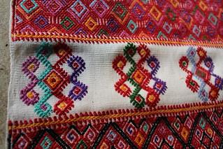 Detail of master weaver María Meza Girón