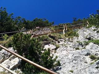 Aufstieg über die Treppen