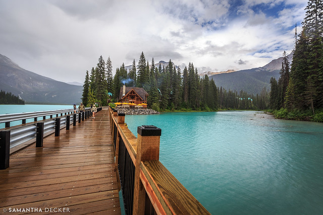 Walking Over Emerald Lake