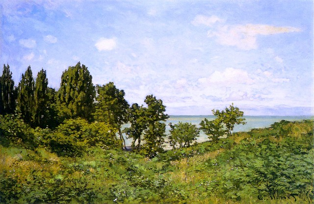 By the Sea by Claude Monet, 1864