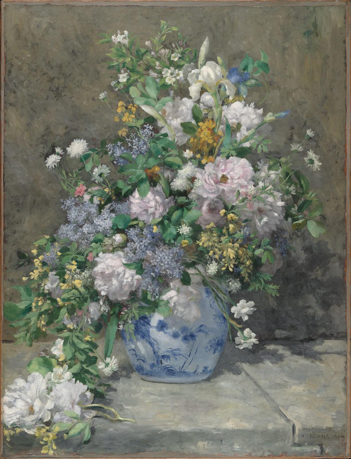 Spring Bouquet by Pierre-Auguste Renoir, 1866