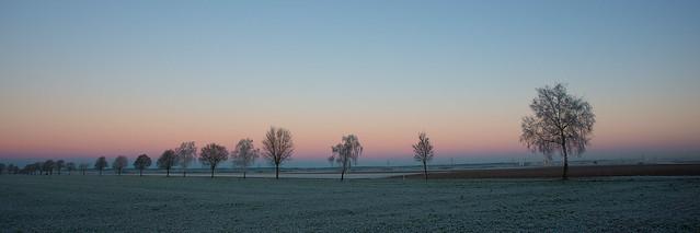 December morning atmosphere
