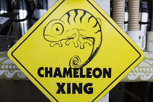 Chameleon Crossing Sign at Greenwell Coffee Farm | by peterbryan718