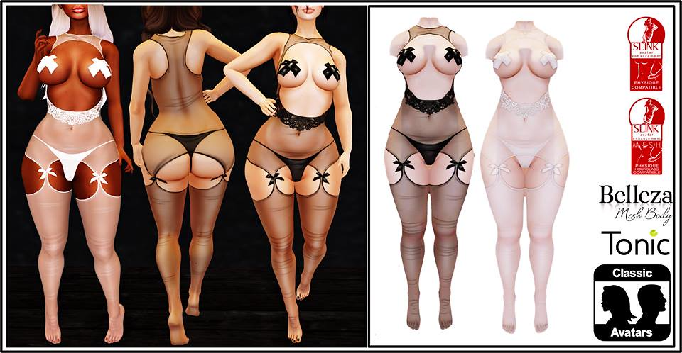 Sila Lingerie Black and White - SecondLifeHub.com