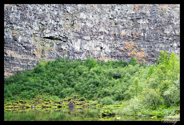 Estanque del Cañón de Asbyrgi