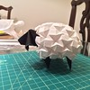 Last night I folded Beth Johnson's sheep. #origami #sheep