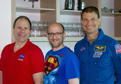 NASA Rock Star Dr. Paul Abell, me, and Astronaut Dr. Stanley Love