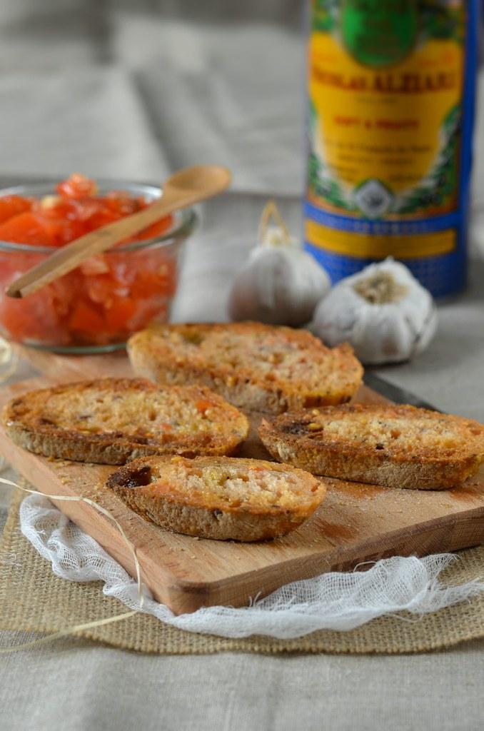 Pan con tomate Toast apéritif à la tomate Recette tapas