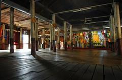 interior teak temple, Maha Nanda Kantha