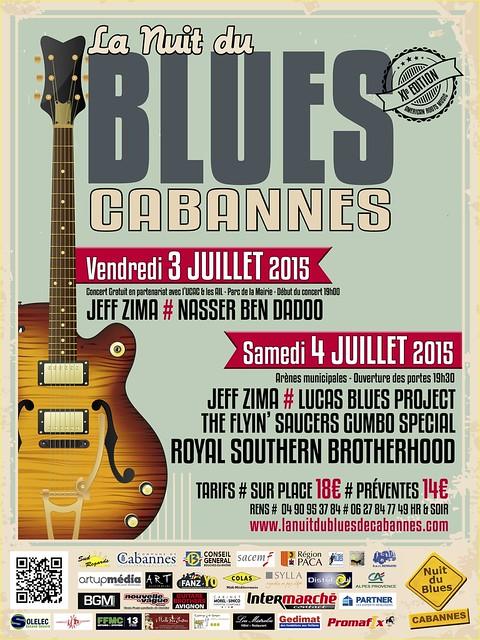 """"""" Flyer """" La Nuit du Blues Cabannes 2015"""