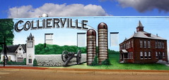 Collierville, TN Town Square Mural (Left half)