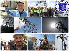 عمال الكهرباء يتابعون اعمالهم استعدادا لوصول الغاز لمحطات التوليد وعودة التيار الكهربائي لما كان عليه