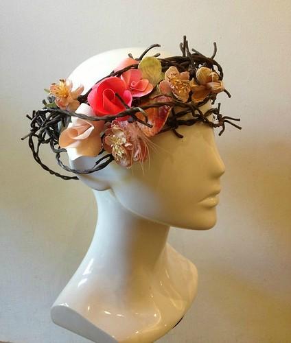 Curl Paper Flower Vine Hat