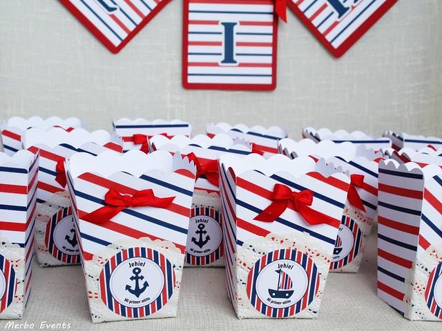 cajas de palomitas para mesa dulce cumpleaños marierno MErbo Events