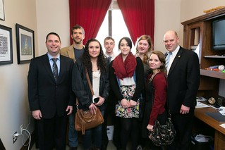 Reps. MacEwen and Griffey meet with local high school students
