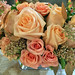Peach Floral Arrangement — Photo by Shirley's Flowers & Gifts in Rogers, Arkansas