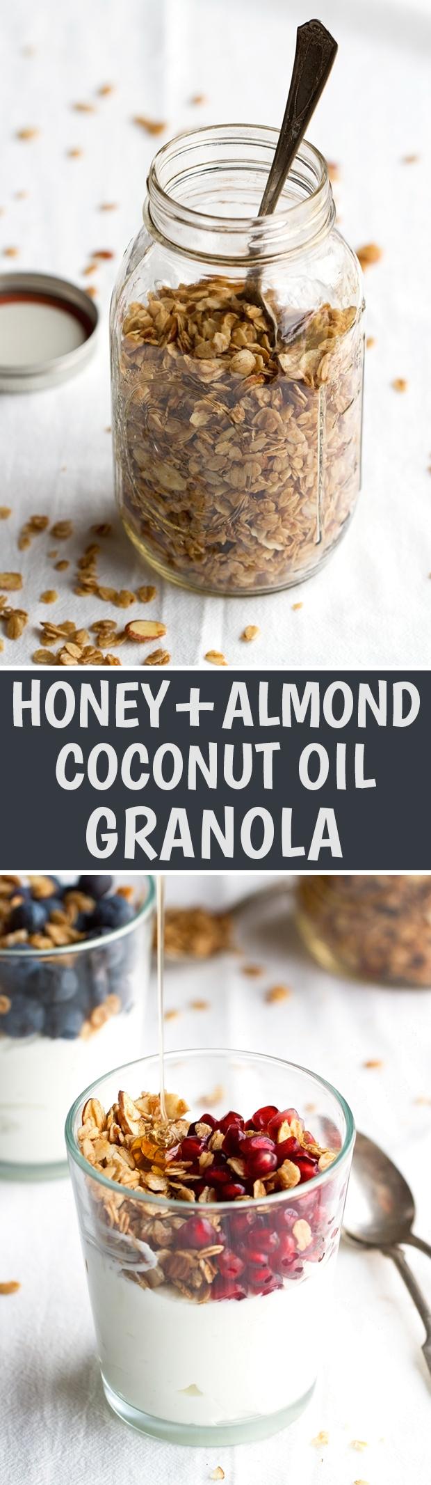 Honey Almond Coconut Oil Granola Recipe | Little Spice Jar