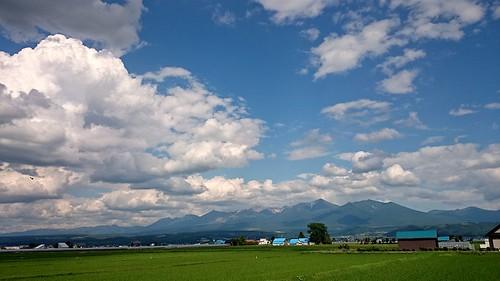 summer sky mountain japan landscape hokkaido bluesky 空 furano 風景 景色 nakafurano beautifulnature 青空 十勝岳 中富良野