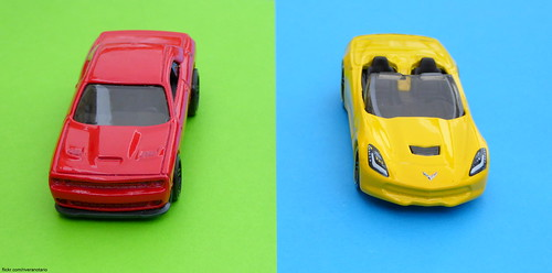 Hot Wheels - Dodge Challenger Hellcat / Corvette C7 Convertible