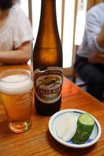 とんかつ丸一_ビール