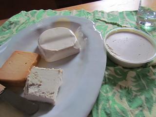 Vegan cheese party at Helen's - Daiya Jalapeno, Punk Rawk Original, Parmella Hickory Smoked, Parmella Original Cream Cheese