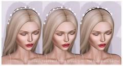 Opale Hair . Free Group Gift .  Holidays Headband . The Gacha Guardians January 2017