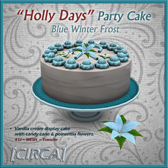 "@ Twisted Krissmuss ~ [CIRCA] - ""Holly Days"" - Party Cakestand - Blue Winter Frost"