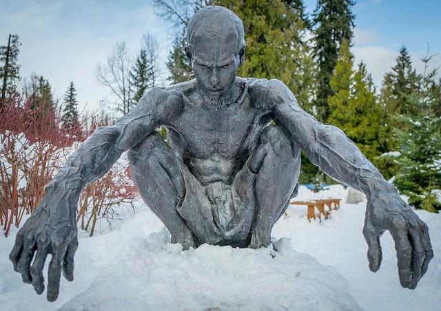 Defining Character, James Stewart Sculpture-Jeri, Whistler, BC