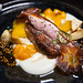 Roasted Pekin Duck, persimmon, celery root, gooseberry