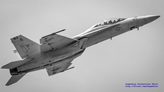 BuNo 168892, F/A-18F Going Up in B&W 16:9 Widescreen