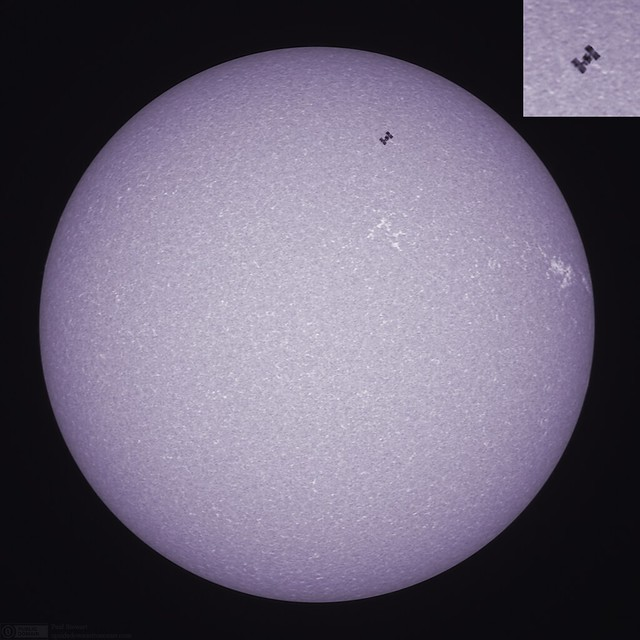 Today's Sun with International Space Station Transit.