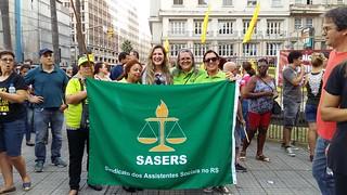 SASERS na manifestação contra a REFORMA DA PREVIDÊNCIA