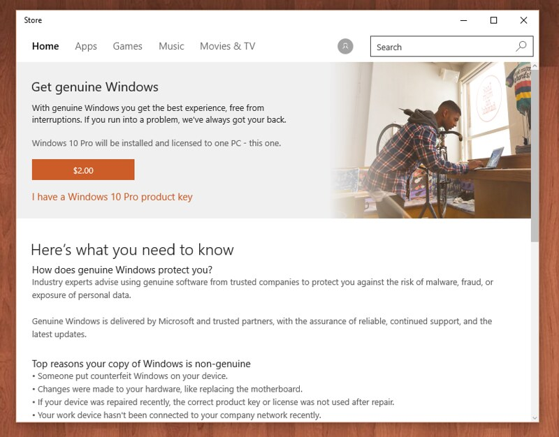 Buy Windows 10 Pro for $2 in Microsoft store? - The Fast Ring
