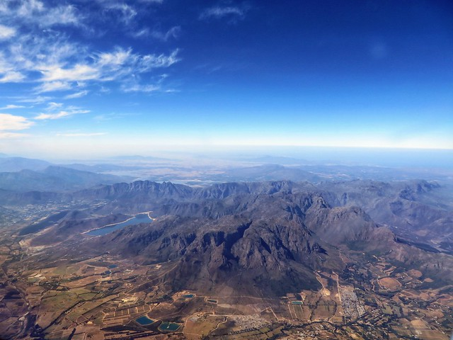 In-flight view of South Africa