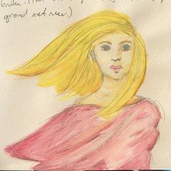 I like wind swept hair. A drawing I made while I was in Taizé. #drawing #watercolor #sketchbook #art