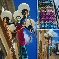 Authorities are investigating a curious incident of vandalism that occurred outside the Gregg County Historical Museum in downtown Longview. It seems some crafty rapscallion has taken to knitting around the base of a lamppost. Witnesses report seeing a sw