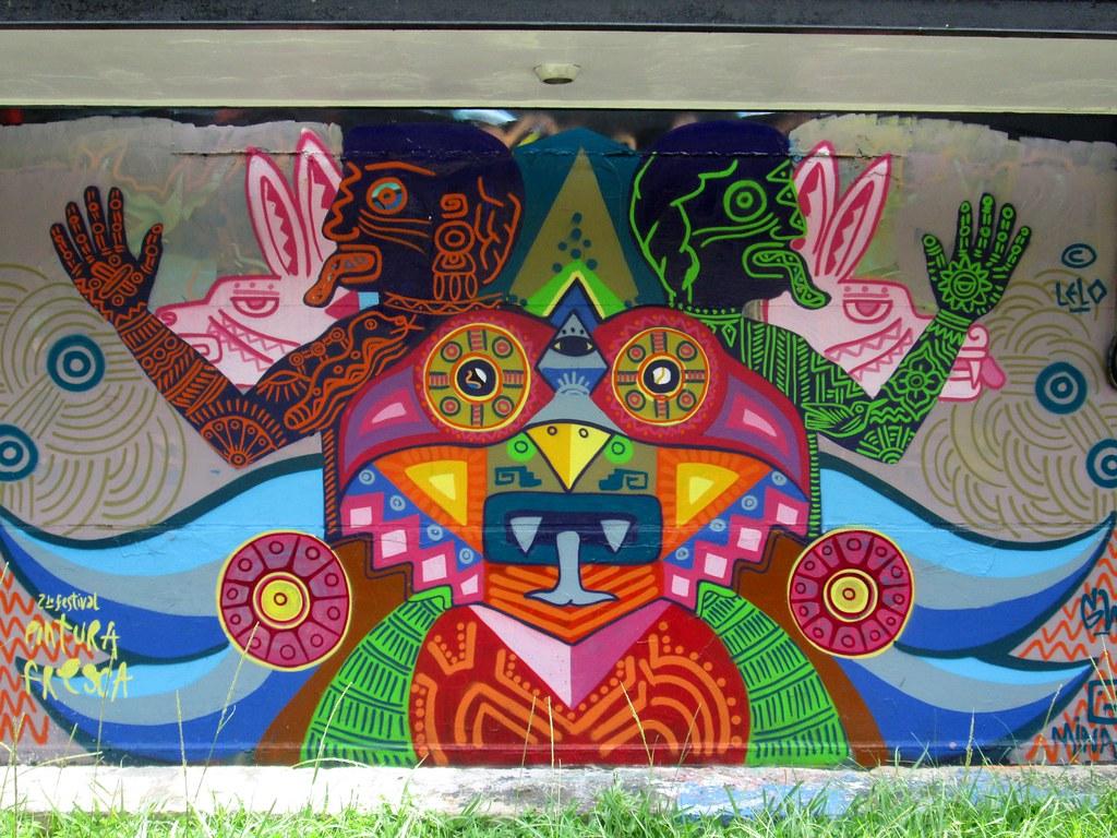 Mural en Av. Chapultepec y C. José María Morelos y Pavón