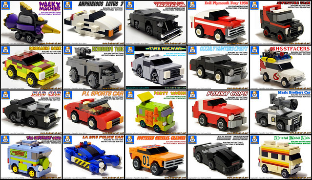 FAMOUS MICRO LEGO VEHICLES