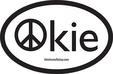 Peace Okie Sticker
