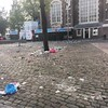 this pic does not come close to capturing the post-#canalpride debris about #amsterdam. frankly disgusted that this is what our/their celebration looks like, especially at the #homomonument. #latergram