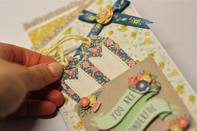 Folk Floral Z Fold Card Close Up by StickerKitten