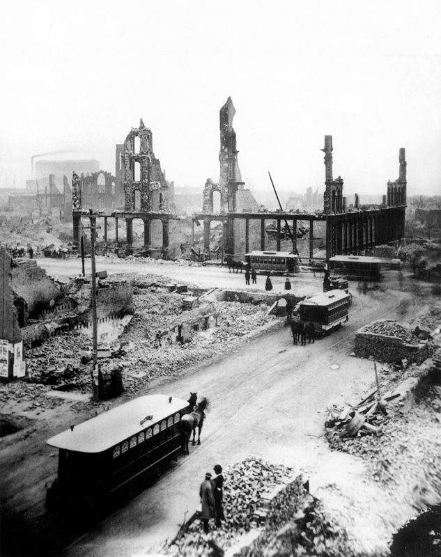Chicago in ruins after the The Great Chicago Fire of 1871