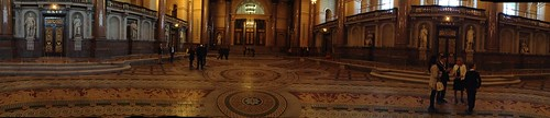 Panoramic view of St George's Hall.